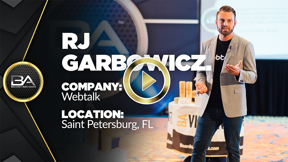 RJ Garbowicz – Webtalk – Board Of Advisors Mastermind Review