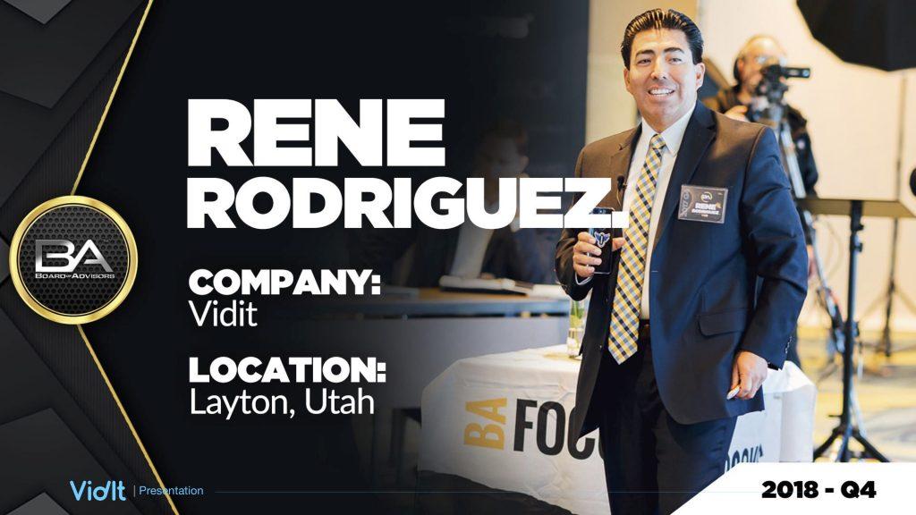 Rene Rodriguez – Vidit – Board of Advisors Review